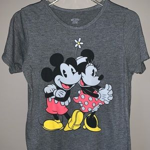 COPY - Disney Gray Mickey and Minnie Mouse T-Shirt